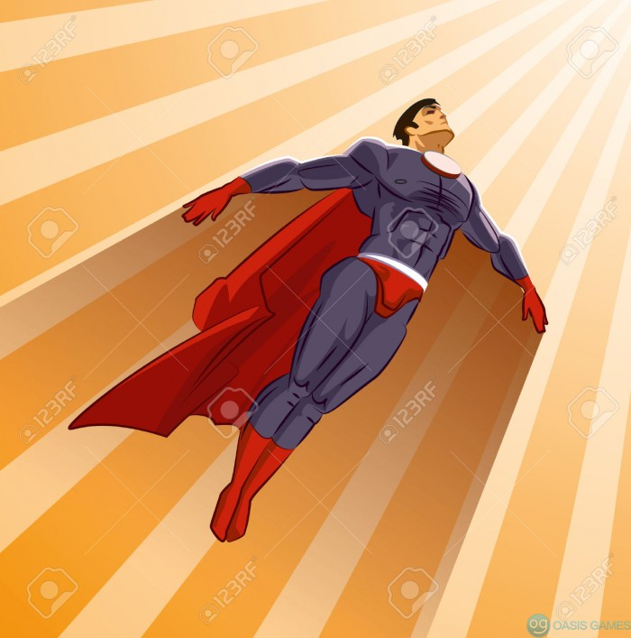 32650891-Superhero-flying-up-on-a-sunlight-Stock-Vector-super