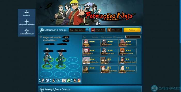Simulador de formações de Naruto Online — Formação de Ninjas de Naruto Online170804195709