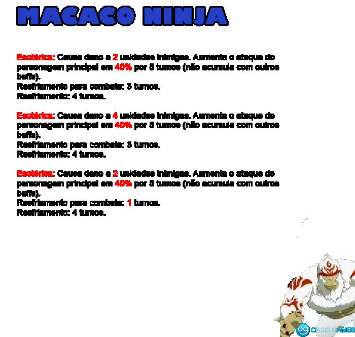 8 - macaco ninja