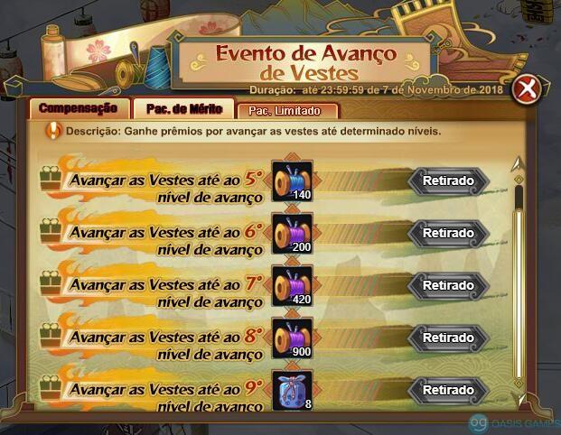 EventoAvanco
