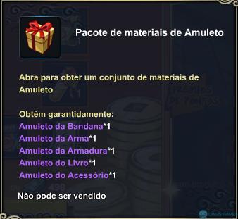 Pacote de materiais de Amuleto