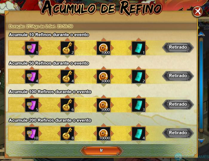 Acumulo de Refino