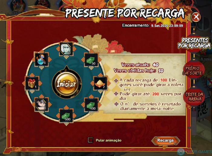 Presente por Recarga