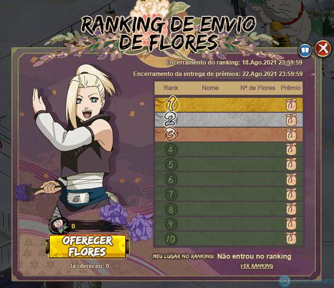 Ranking de flores