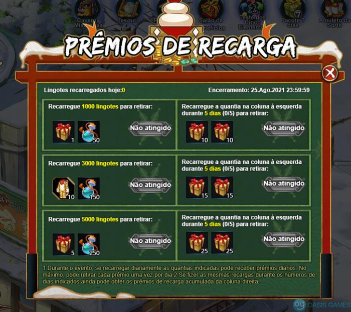 Premios de recarga